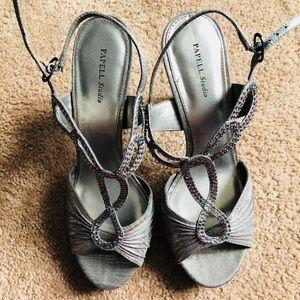 Papell Studio Pewter Dress Heels